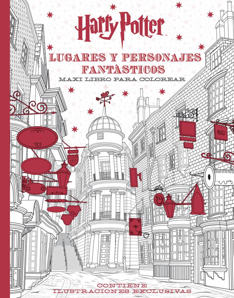 Libro de Harry Potter para colorear, dirigido a adultos