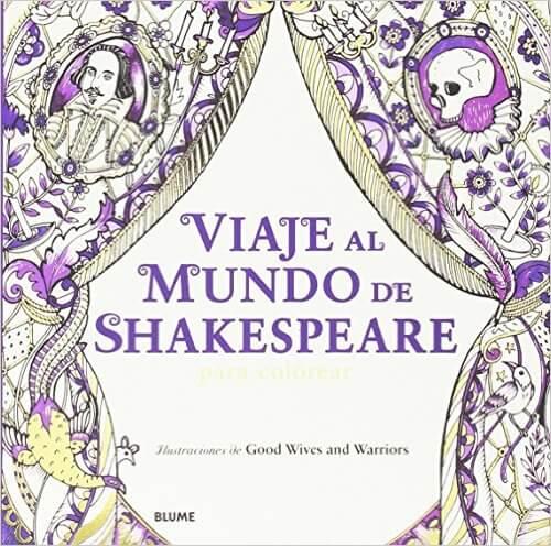 Un libro para colorear de adultos basado en el mundo de Shakespeare