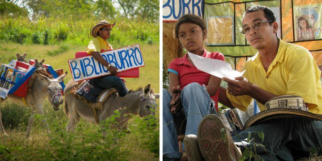Librería ambulante: el Biblioburro en Colombia
