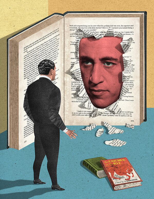 Collage de JD Salinger