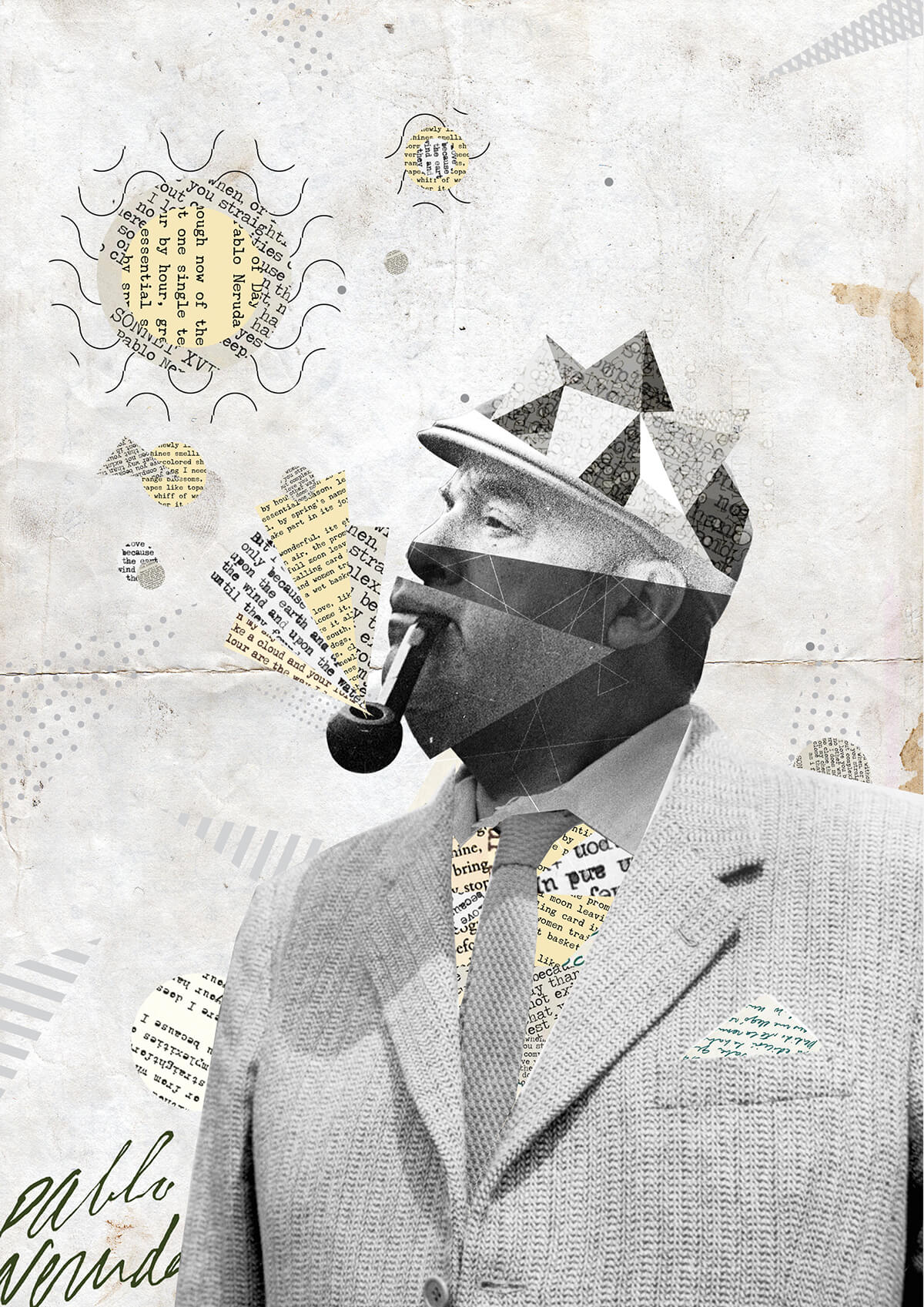 Collage de Pablo Neruda