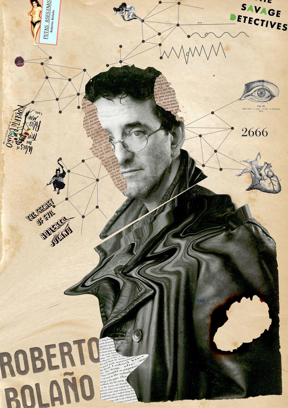 Collage de Roberto Bolaño