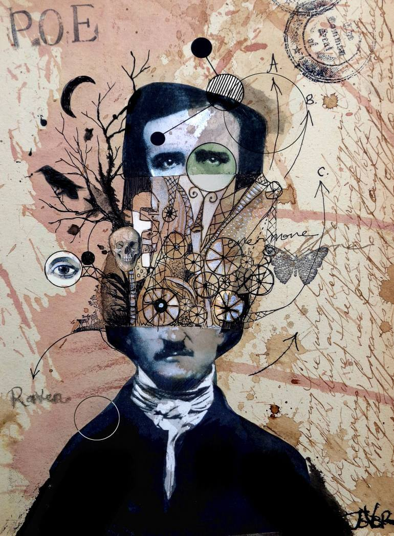 Collage de Edgar Allan Poe