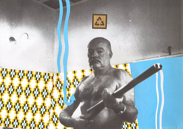 Collage de Ernest Hemingway