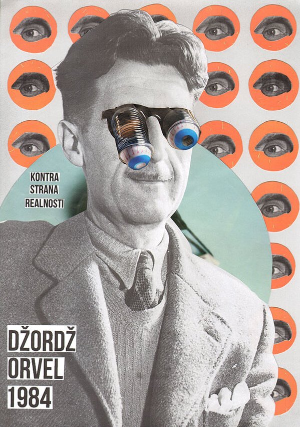 Collage de George Orwell y 1984