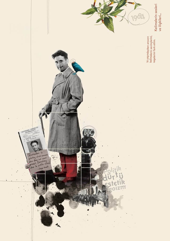 Collage de George Orwell