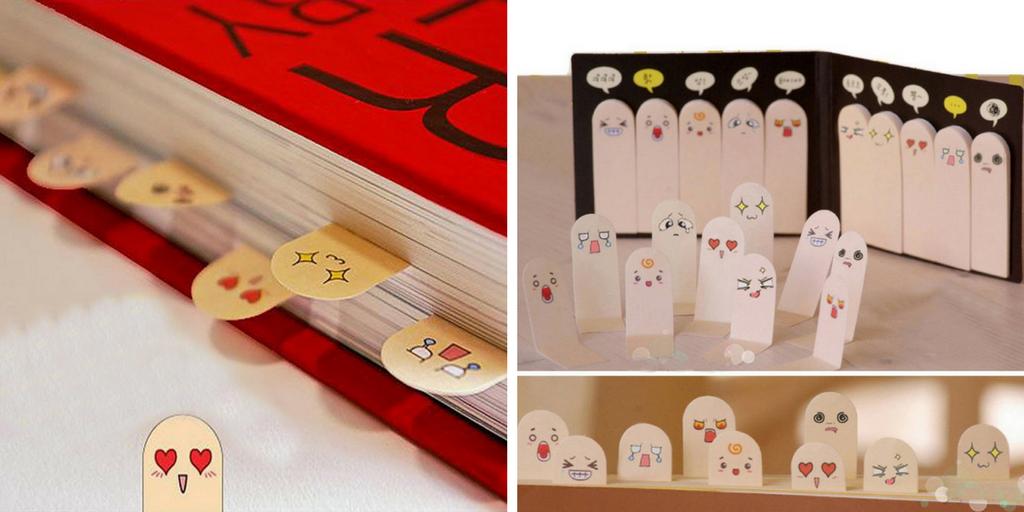 Marcapáginas de libros con emociones