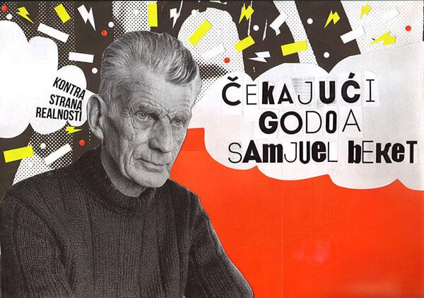 Collage de Samuel Beckett y Esperando a Godot
