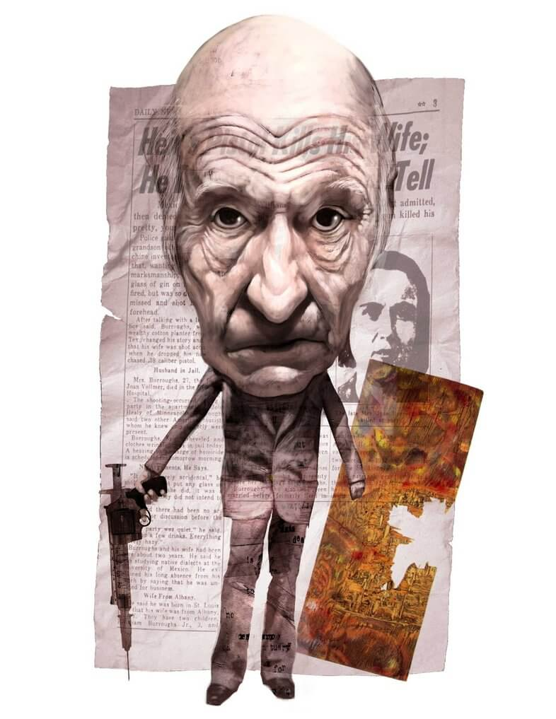 Collage de William Burroughs
