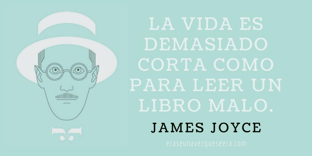 Frase de James Joyce sobre la lectura