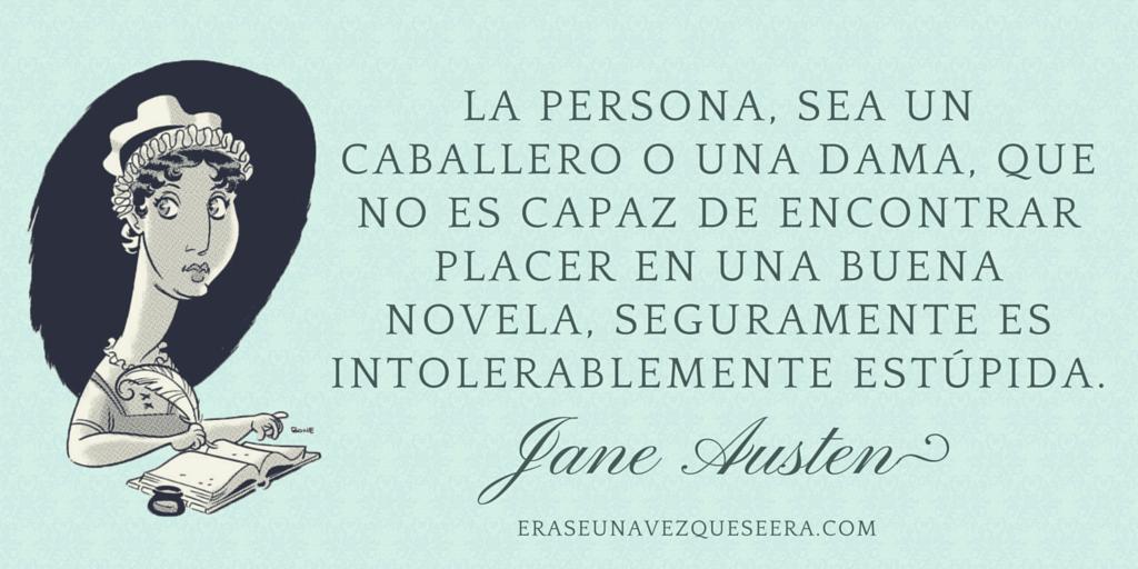 Frase de Jane Austen sobre leer