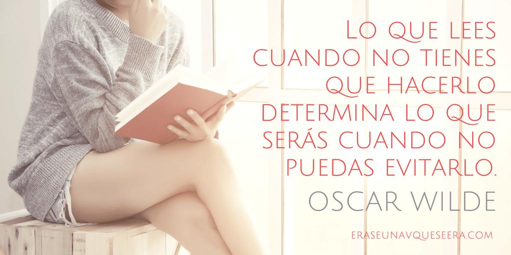 Frase de Oscar Wilde sobre la lectura