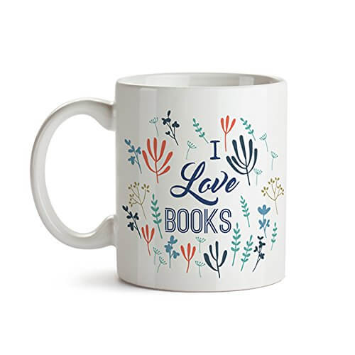 Taza para lectores: I love books
