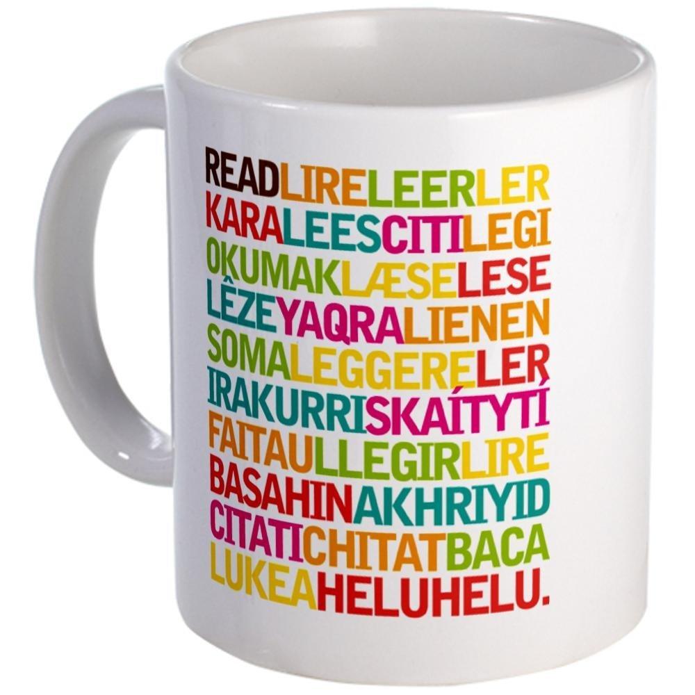 Taza para leer en todos los idiomas