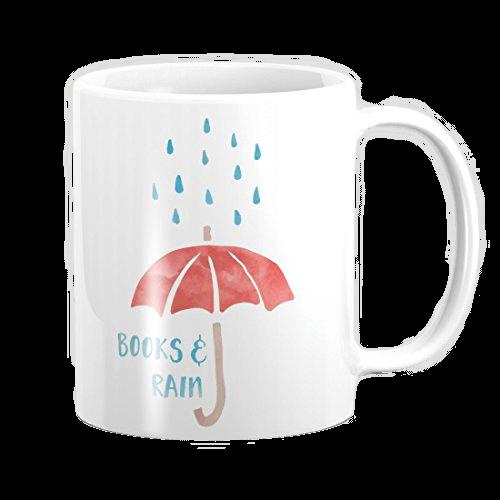 taza para amantes de leer en días lluviosos