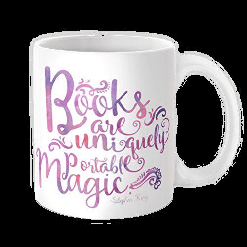 Taza para lectores: los libros son magia portátil